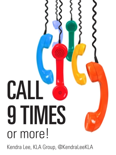Call 9 times or more to reach your prospect