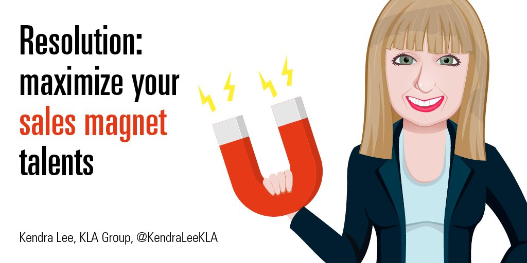 Smiling woman avatar dressed in suit and holding magnet with lightening bolts coming from ends
