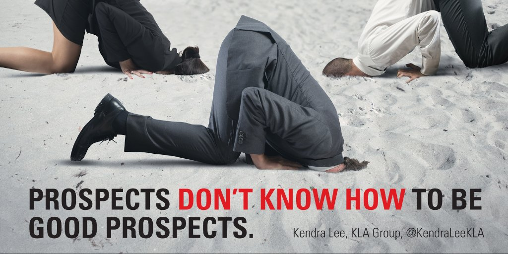 You have to lead prospects through the sales process