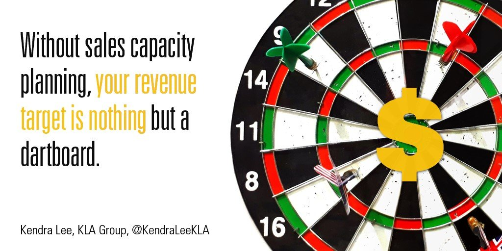 Dartboard with sales capacity planning text